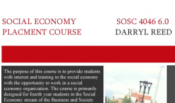SOSC 4046 Social Economy Placement Course